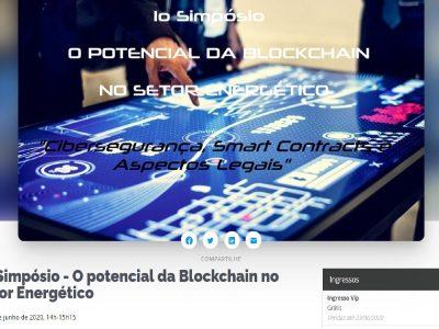 Abertas incrições do 3º painel do Simpósio O Potencial da Blockchain no Setor Energético