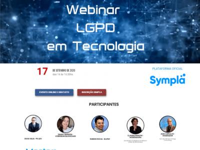 Webinar nesta quinta-feira  discute o uso de blockchain com a LGPD