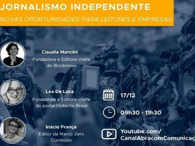 Blocknews, Fintechs Brasil e Marco Zero debate novas plataformas de notícias na Abracom