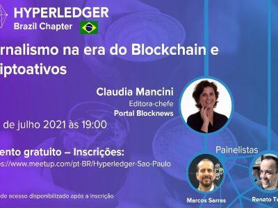 Editora do Blocknews falará sobre jornalismo e blockchain em encontro da Hyperledger Brasil